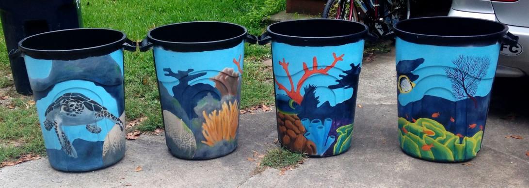 Coral Reef Rain Barrels